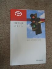 2013 TOYOTA SIENNA POCKET QUICK REFERENCE GUIDE OWNERS MANUAL BOOKLET