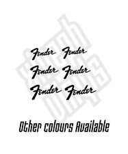 Fender Guitar Vinyl Sticker Decal car small electric headstock mini