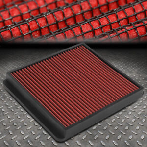 FOR 92-99 SC400/SC300/SUPRA/-04 TACOMA/4RUNNER WASHABLE PANEL AIR FILTER RED