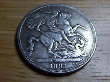 1893 queen victoria silver crown , british, unusual design