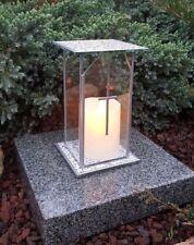 Grablaterne Kerze Grablampe Lampe Grableuchte Grablicht Grabschmuck Design Kreuz