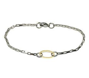 hypoallergenic stainless steel minimalist bracelet 7 inch box chain gold oval