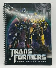 Vintage Transformers 2011 Notebook Dark of The Moon Hasbro Brand New 70 Sheets