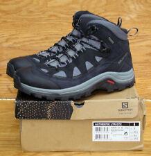 New listing SALOMON Authentic LTR GTX GORETEX Black Grey Leather Hiking Boot 404643 Men 9.5