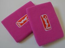 Nike Wnba Dri-Fit Pulseras Mujer Baloncesto Rosa Fire / Blanco Osfm