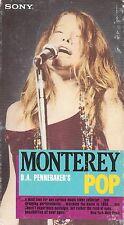 MONTEREY POP (VHS) JANIS JOPLIN JIMI HENDRIX MAMAS PAPAS THE WHO