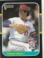 FREE SHIPPING-MINT-1987 Donruss Minnesota Twins Baseball Card #196 Frank Viola