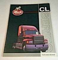1992 Mack Truck Bulldog Original Sales Brochure CL Series Trucks 32 Page Catalog