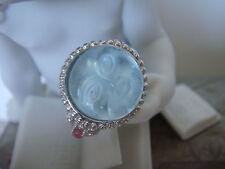 TAGLIAMONTE Designs(PRT290) 925SS Ring W/ Venetian Cameo *Tourmalines* Moonface*