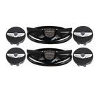 2011-2015 Genesis Coupe Black Front Rear Emblem Wing Car Wheel Center Hub Cap