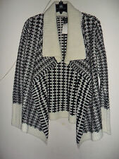 Women's Apt. 9 Textured Wool-Blend Cardigan Black and White size:XS New with tag