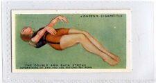 (Ja1953-100) Ogdens,How To Swim,Double Arm Back Stroke Inter-Timing ,1935#37