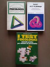 PSICOLOGIA, TRE LIBRI: STUDI,SAGGI CRITICI, DOCUMENTI, TESTIMONIANZE, TEST