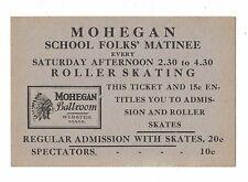 Mohegan Ballroom Webster, Mass -  Roller Skating Matinee Discount Card