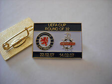 a2 HAPOEL TEL AVIV - GLASGOW RANGERS cup uefa europa league 2007 football pins