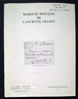 1979 Auction Catalogue MARQUES POSTALES DE L'ANCIENNE FRANCE Covers Postmarks