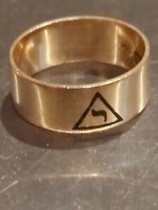 ➡➡ SCRAP? 5.8g HEAVY GOLD 14th Deg Masonic Freemason Scottish Rite Ring 10k