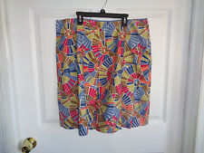 NWT Talbots Petites - Multi-colored - Flat Front - Cotton Skirt - Size 16
