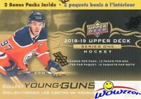 2018/19 Upper Deck Series 1 Hockey HUGE Sealed 12 Pack Blaster Box-2 YOUNG GUNS
