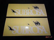 2 AUTHENTIC SUBROSA TIRO DIRT BMX STICKERS #69 / DECALS AUFKLEBER