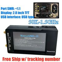 50K-1.5GHz NanoVNA-H HF VHF UHF Vector Network Analyzer Antenna+LCD+Battery+Case