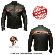 Lionstar Harley Davidson Motorbike Motorcycle Real Leather Jacket