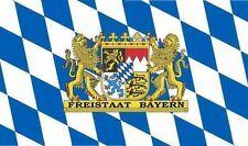 Aufkleber Freistaat Bayern Flagge Fahne 8 x 5 cm Autoaufkleber Sticker