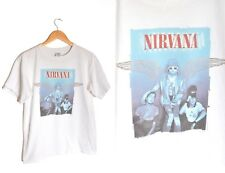 Nirvana Kurt Cobain T shirt Blue Wings Medium Anvil White Tee Band Rock 2004 Vtg
