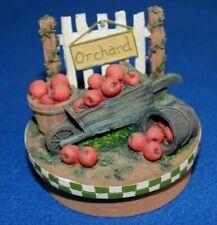 Yankee Candle Apple Wheel Barrel Candle Jar Topper - NEW