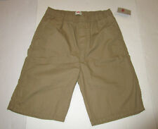 Boys Levis Dark Tan Ripstop Stretch Waist Shorts Size Medium 5 - 6 Years.