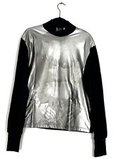 Jean Paul Gaultier Maille aw1992 Silver Mens Body Print Sweater Jacket XL NEW