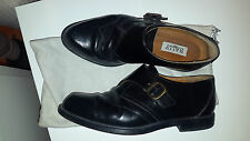 Bally shoes black leather , monk , brogues , oxford size 7UK / 41 Euro