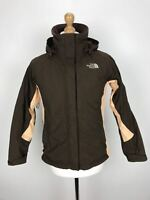 THE NORTH FACE Womens HYVENT Jacket Coat | Hooded Waterproof | XS Brown