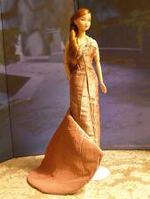 OOAK Brown Silk One-Shoulder Gown fits Silkstone,Fashion Royalty &12-inch dolls