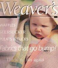 New listing Weaver's magazine 36:Fabrics That Go Bump, part 1; waffles; tucks