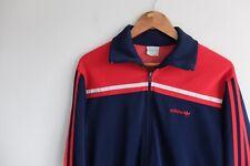 Vintage Adidas trefoil tracksuit jacket 80s | M/L | Red Navy rare Korea