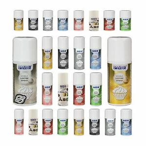 3 x PME Edible Lustre Spray Paint for Food Fondant Icing Colour Cake Decoration