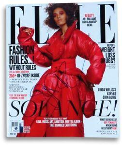Solange Signed Autographed Elle Magazine Gorgeous Sexy March 2017 GV865471