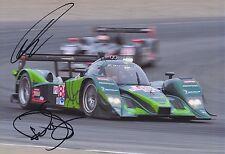 Paul Drayson y Jonny Cocker mano firmado 12x8 Foto Aston Martin Le Mans 4.