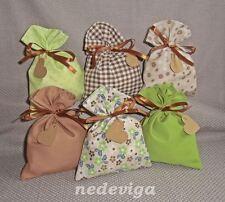 Adventskalender Stoff-Säckchen - 24 Beutel - Landhaus Blumen - Handarbeit