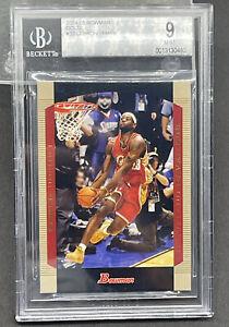 2004-05 BGS 9 Lebron James Bowman Gold Topps #23 NBA CARD Mint Cond. 2nd Year