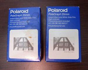 2 x Polaroid PolaGraph 35mm instant B&W Slide Film DIA Sofortbild Film 72 frames