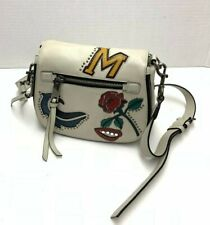 Marc Jacobs Nomad Mj Collage Saddle Bag Handbag White - Mint Condition