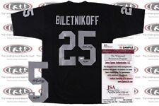 Fred Biletnikoff Signed Custom Pro Style Jersey JSA Witnessed Raiders