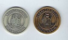 1967 lebanon Maine 200 Years Sterling Silver- Bronze
