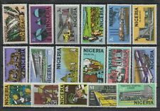 C089 NIGERIA 1973 Definitive stamps in complete set (16 values) HCV -  MNH Luxus