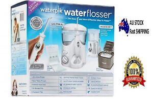 Waterpik Waterflosser Ultra and Nano Water Flosser + Travel Case Combo Pack New