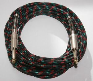 Pulse Guitar Lead with Black Cloth Design Braided Cable 5m