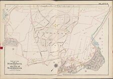1910 G.W. Bromley, Westchester, N.Y., Mamaroneck Station, Copy Plat Atlas Map