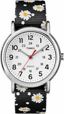 Timex TW2R24100, Women's Weekender Floral Fabric Watch, Indiglo
